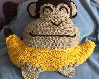 Chimp the chimpanzee pillow.