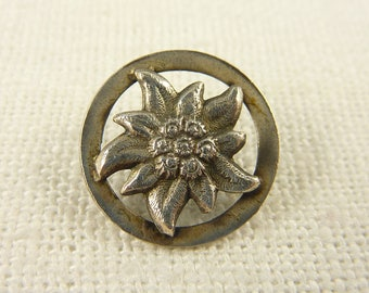 Antique Sterling Edelweiss Button