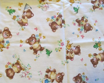 "Free Shipping! Vintage ""Honey Bear"" Fabric by Cranston Print Works. 1/2 Yard. 17076"