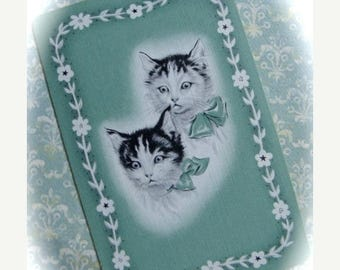 ONSALE Vintage Antique Cat Kittens Trade Playing Cards