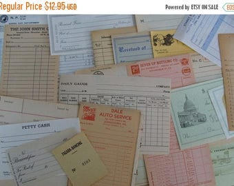 ONSALE Antique Hand Selected Altered Journal Unused Ephemera 24pc Farmhouse Series
