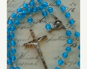 ONSALE Beautiful Vintage Holy Rosary from Italy N0 49 Wonderful Easter Gift