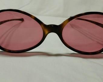 Vintage sunglasses,  rose colored lenses