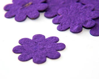 200 Purple Seed Paper Flower Confetti diy wedding favors, place cards, save the date cards creative invitations by Nature Favors