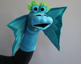 how to make a dragon sock puppet