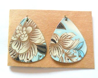 Upcycled Vintage English Tea Tin Earring Findings Pair