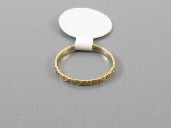 Vintage estate 10k gold band ring / pinky ring / midi ring, size zero / baby ring / knuckle ring