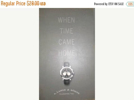 Christmas in July Sale A. Lange & Sohne wrist watch collector 112 page refererence catalog book When Time Came Home paperback wristwatch pri