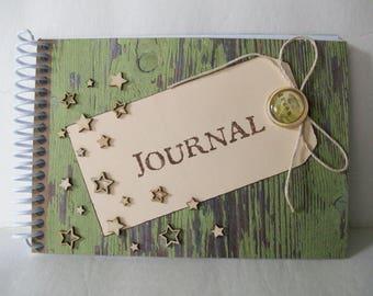 Dream Journal, Memory Journal, Handmade Journal, Journal with Stars,Doodling Journal,Writing Journal,Keepsake Journal, Sketchbook Journal,