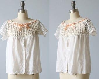 Edwardian Top / Cotton Camisole / Edwardian Blouse / Tank / Boho Lace T