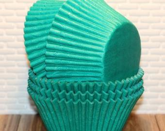 Jumbo Teal Green Cupcake Liners (Qty 32)  Jumbo Green Cupcake Liners, Jumbo Green Baking Cups, Jumbo Green Muffin Cups, Jumbo Cupcake Liners