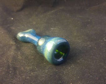 Glass Space Chillum Pipe Silver Fumed
