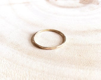 Simple Stackable Ring, Thin Stackable Ring, Gold Stacking Ring, Midi Ring, 14k Gold Filled Ring, Stacking Ring in MEDIUM thickness