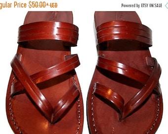 15% OFF Brown Sling Leather Sandals For Men & Women - Handmade Leather Sandals, Unisex Sandals, Jesus Sandals, Brown Flip Flops, Brown Leath