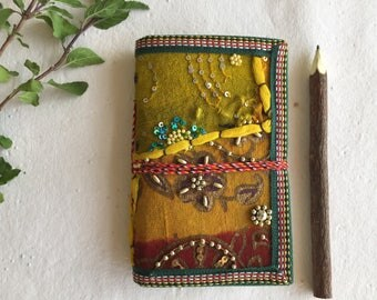 Blank Unlined Journal, Indian Notebook, Indian Sari Journal, Cheap Journal, Economical Diary, Low Priced Journal,Blank Book,Affordable Diary