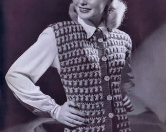 Columbia Fashions in Hand Knits Volume 107 Vintage PDF Knitting Patterns Jackets Suits Sweaters Crochet Hats Instant PDF Pattern Download