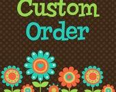 Custom order for Patty - girls cupcake birthday card