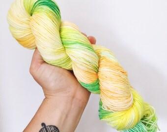 Pineapples - Hand dyed 4ply/sock yarn 100g/400m superwash merino, nylon blend