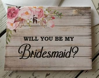 Will You Be My Bridesmaid Card,  Bridesmaid Proposal, Will You Be My Maid Of Honor,  Matron of Honor,  Flower Girl, Jr Bridesmaid