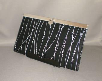 Wallet - DIVA Wallet - Clutch Wallet - Black and Silver - Metallic