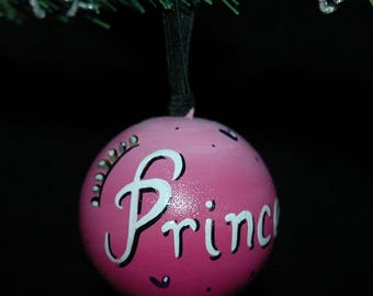 Princess Ornament - Hand Painted - Personalized - Solid Wood