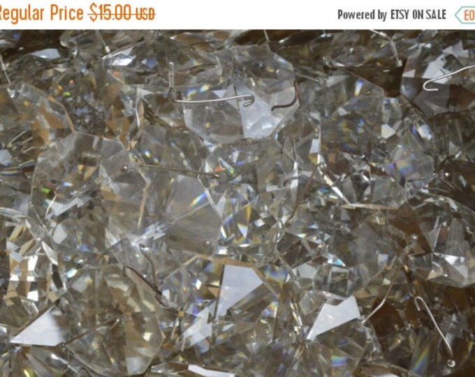 sale Vintage Chandelier Crystals, Large Chandelier Prisms, Christmas Ornaments, Jewelry Making, Craft Crystals, Chandelier Crystals,