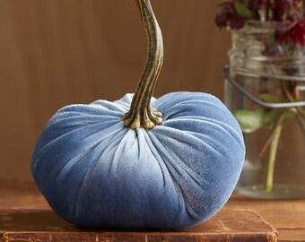 Scented Velvet Pumpkin, SLATE BLUE GRAY
