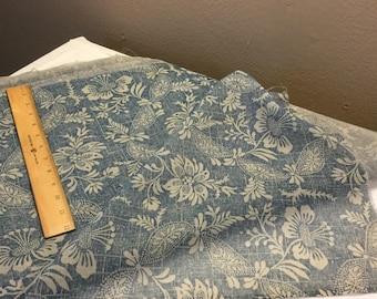 Cadet blue vintage cotton voile fabric