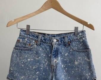 40% SUMMER SALE Splatter Denim Shorts