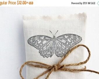 SALE Lavender Scented Sachet, Butterfly No. 4 Lavender Sachet, Mariposa Garden Wedding Favor