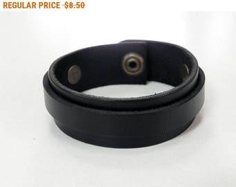 Simple Black Leather Cuff Bracelet Leather Bracelet