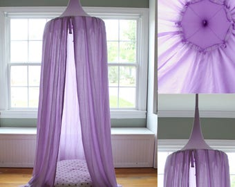 Play Canopy - Lavender Purple - Hanging Tent - Made to Order & Play Canopy Mint Hanging Play Tent