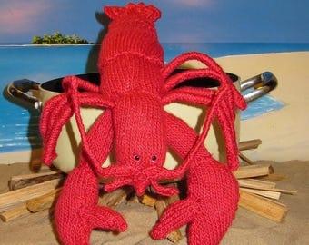 40% OFF SALE Instant Digital pdf download knitting pattern madmonkeyknits Lottie Lobster Crustacean Toy pdf knitting pattern