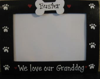 We love our Granddog photo picture frame pet dog memory gift photo picture frame