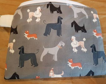 Dog Parade Handbag/Cosmetic Bag