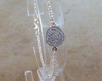 Sterling silver Minoan phaistos Disc bracelet - Greek jewelry