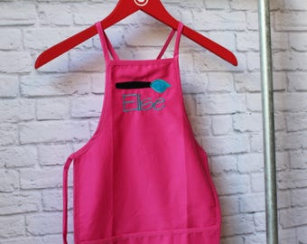 Personalized Paint Party Apron - Paint Party Child Apron - Art Party Apron - Smock - by Pocketbrand