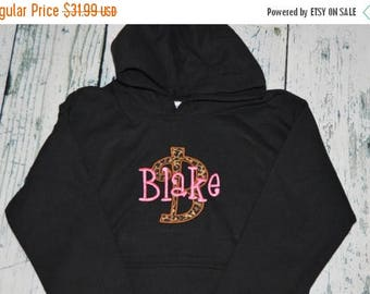 ON SALE YOUTH  Personalized Hooded Sweatshirt  Monogrammed Pullover