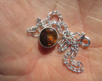 SENSATIONAL SAMPLE to SHOWOFF - Sterling Silver Mexican Fire Agate Wrist or Ankle Bracelet
