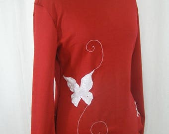 Pull butterfly fairy burgundy