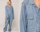 Osh Kosh Coverall Jumpsuit 80s Oshkosh Overalls One Piece Pants Workwear Baggy Long Pants Work Wear Vintage Jumpsuit Extra Large xl 2xl xxl