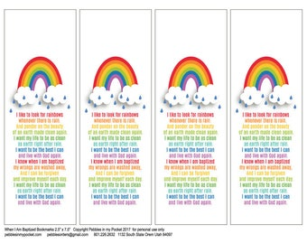 My Baptism: Bookmarks (qty 1)