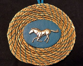 Horse Concho  Christmas Ornament
