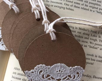 Kraft and Doily Tags (set of 8)