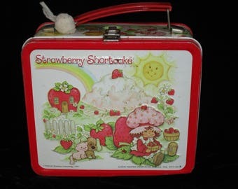 1980's Strawberry Shortcake Metal Lunchbox by Aladdin