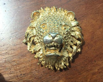 Vintage Ellen Kiam Lion Head Pin