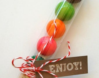 25% Off Summer Sale 100 Clear FDA Plastic Gumball Tubes - Bubble Gum Favor Tubes and Corks