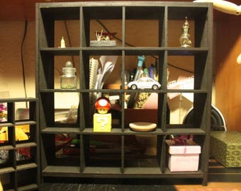 IKEA inspired miniature  1/6 scale black EXPEDIT bookcase