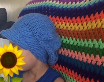 Newsboy Crochet Hat