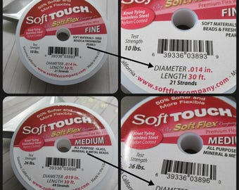 SoftTouch, Soft Touch, Choice of Fine or Medium, Soft Touch Beading Wire, Beading wire, beading wire, premium beading wire